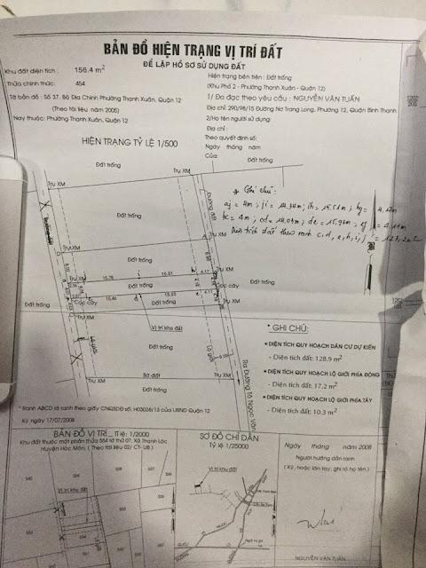Bán nhà và đất thổ cư đường Thạnh Xuân Quận 12 -01