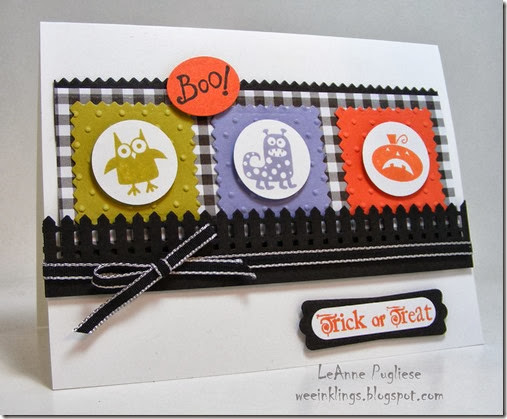 LeAnne Pugliese WeeInklings ColourQ212 Spooky Bingo Bits Halloween Stampin Up