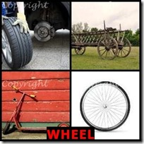 WHEEL- 4 Pics 1 Word Answers 3 Letters