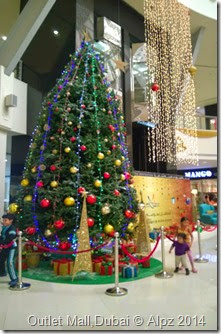 Christmas tree -Dubai Outlet Mall