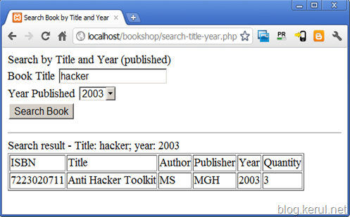 search books by title and year