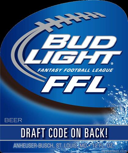Bud Light NEW Fantasy Football League FFL Bottles