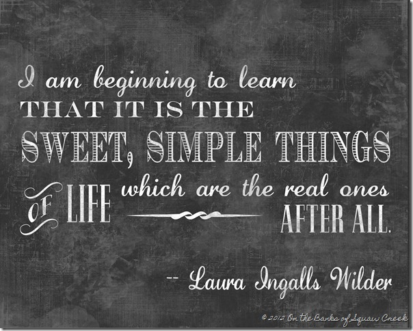 Laura Ingalls Wilder Simple Things Art