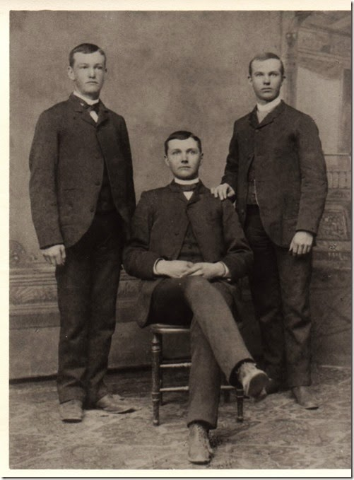 Webster Brothers - Rollin, Frank, Watson (Fred) Webster circa 1884