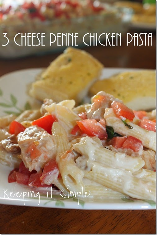 #ad 3-cheese-penne-chicken-pasta #summerofgiving