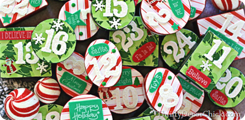DIY Christmas advent boxes