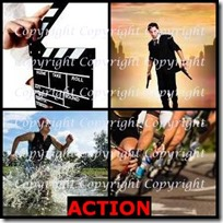 ACTION- 4 Pics 1 Word Answers 3 Letters