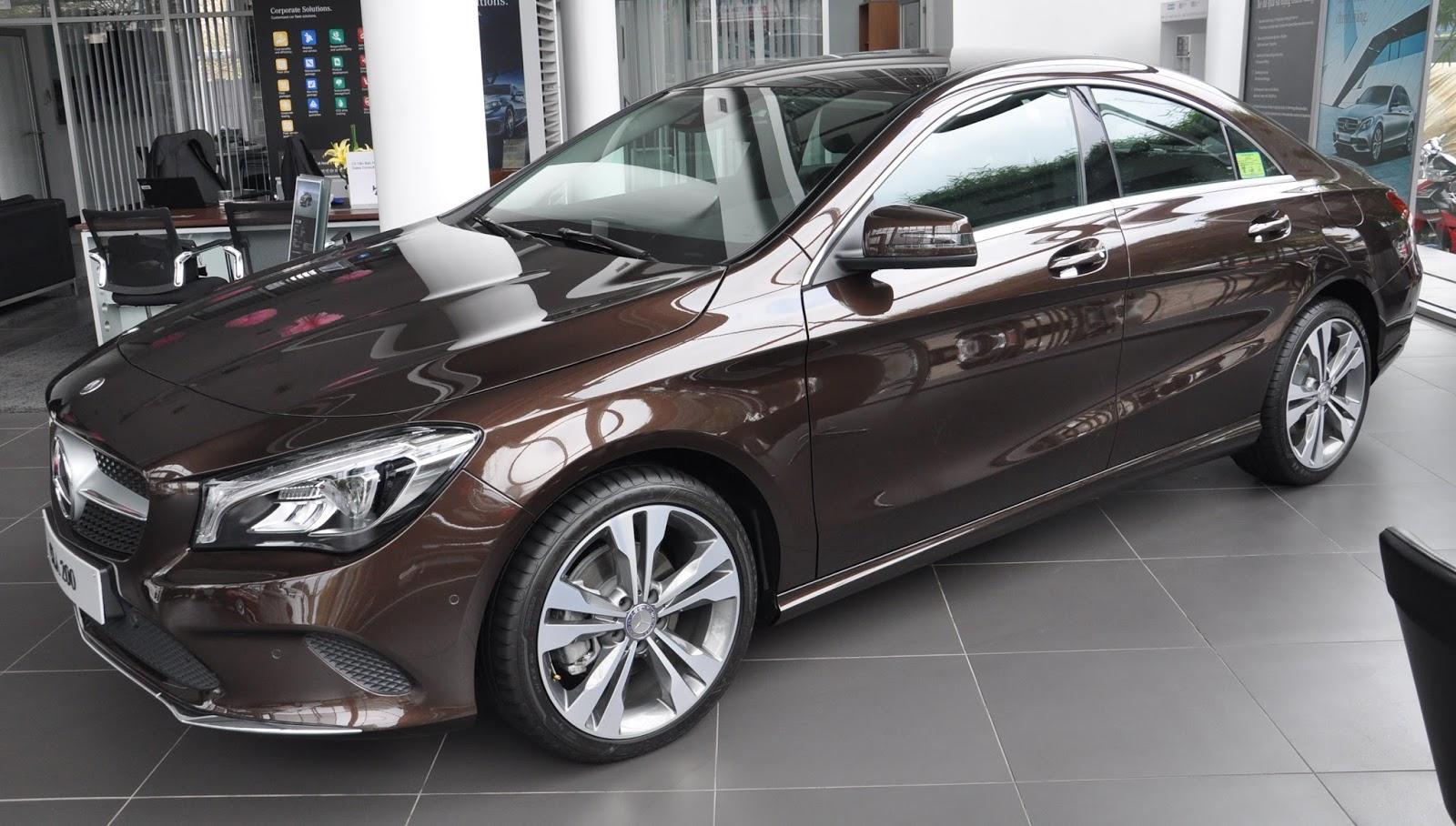 Xe Mercedes Benz CLA 200 New Model màu nâu 02