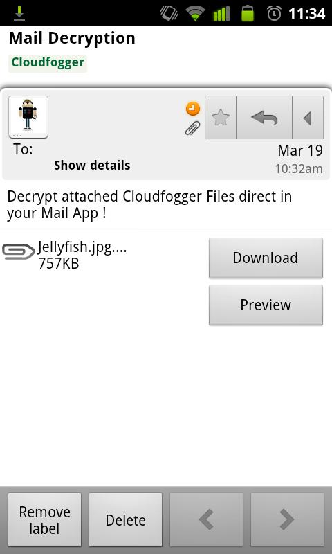 Cloudfogger Cloud-Encryption - screenshot