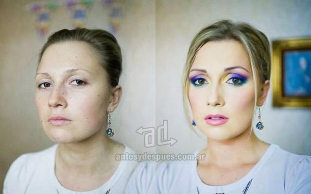Antes y despues del maquillaje 10
