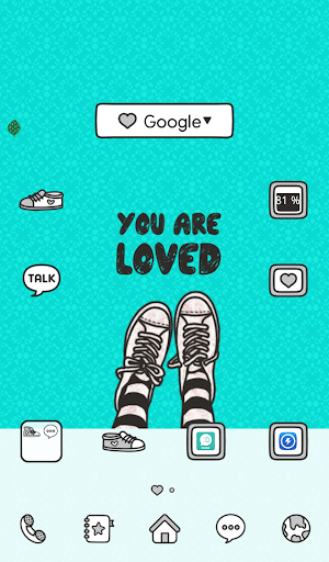 you are loved mint dodol theme