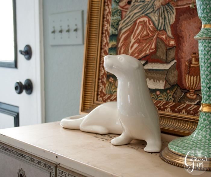 thriftscorethursday white ceramic otter2