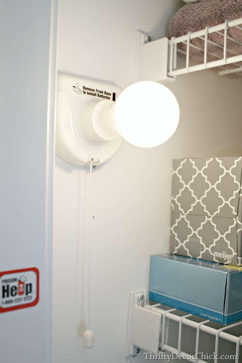 stick up light in closet
