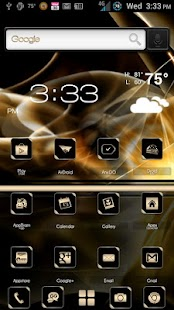 ADW Theme BlackGold- screenshot thumbnail
