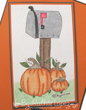 Mail Box - Through the CraftRoom Door - Guest Designer Team - Ruthie Lopez - My Hobby = My Art - Thanksgiving Card 2