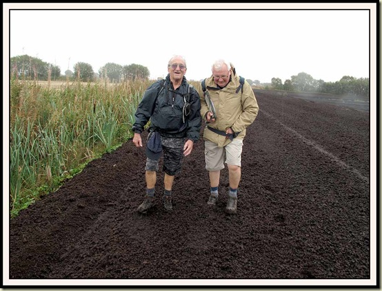 John and Reg sinking into Little Woolden Moss