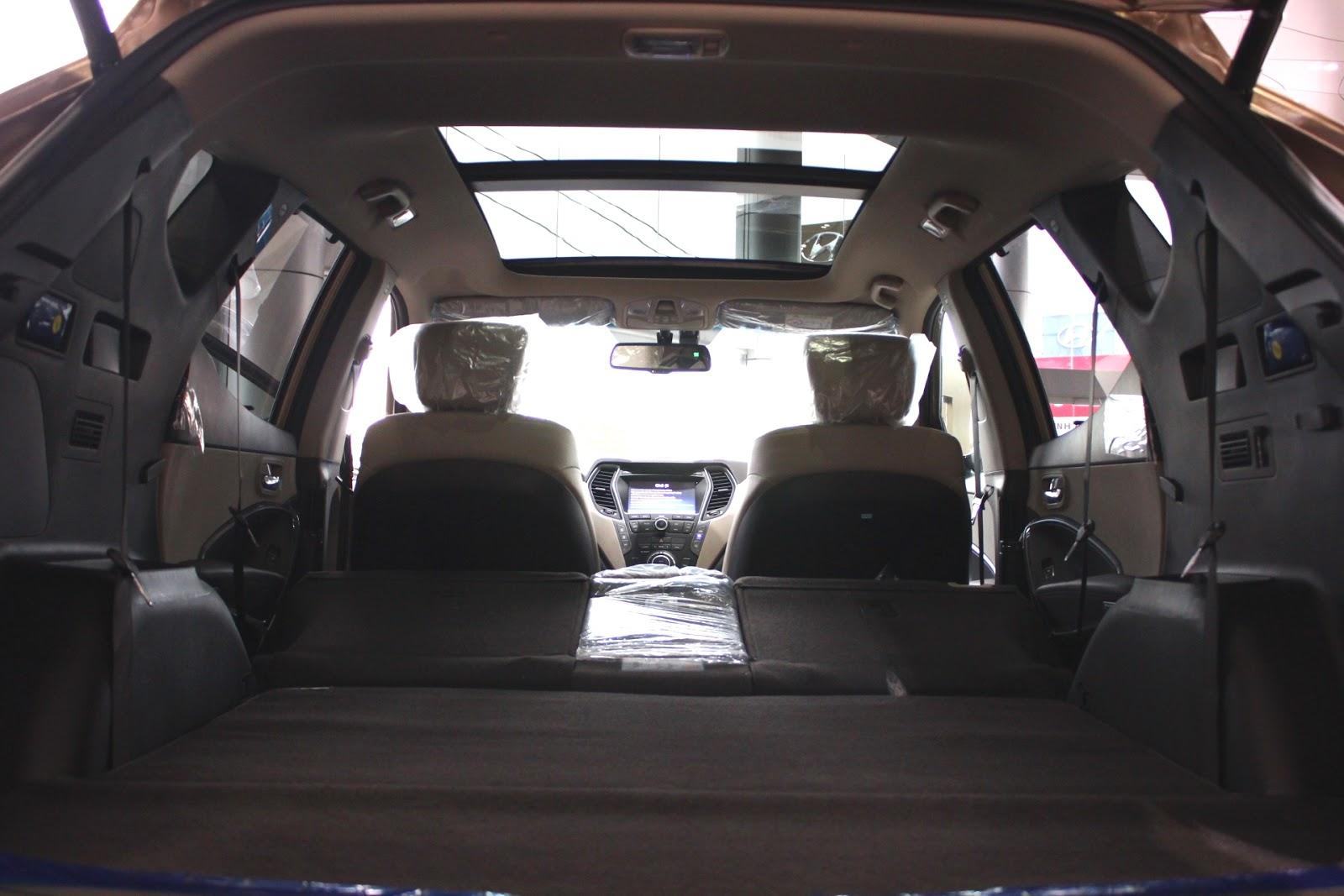 Nội thất xe Hyundai Santafe New Model màu vàng cát 04