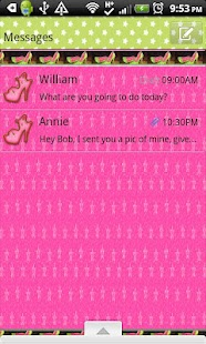 GO SMS THEME/GirlyFruit - screenshot thumbnail