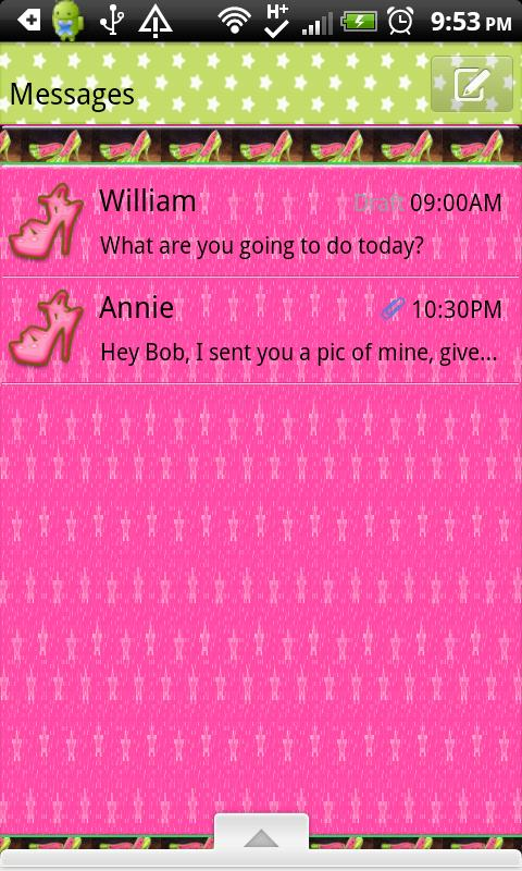 GO SMS THEME/GirlyFruit - screenshot