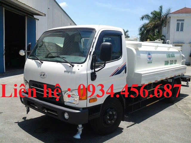 Bán xe phun nước rửa đường 6 khối Hyundai 110s