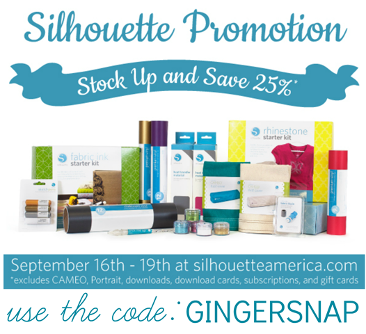 Silhouette Promotion stock up & save #spon