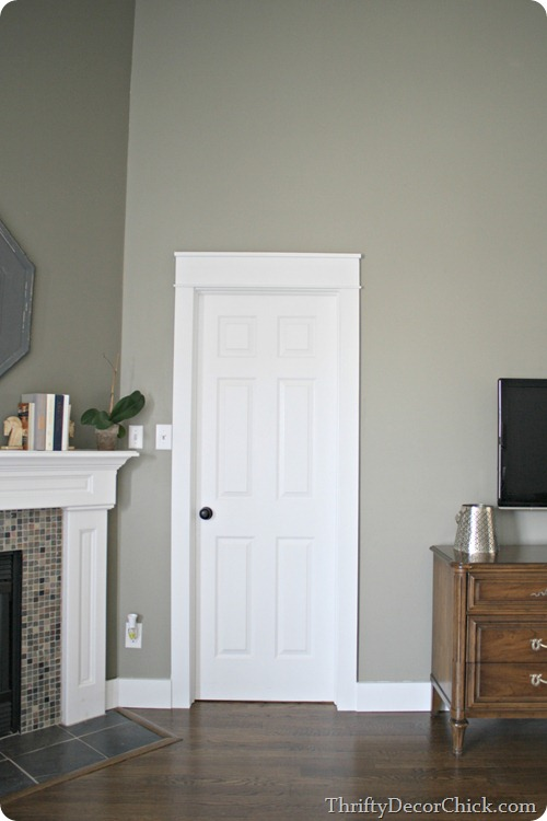 DIY chunky door trim