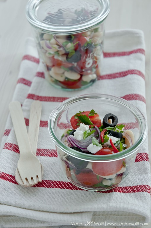 Cannellini Bean Salad with Olives and Ricotta (0098a) by Meeta K. Wolff