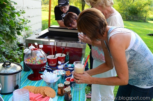 Cold Stone Creamery catering cart and sundae bar