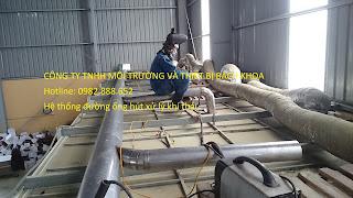 hệ thống đường ống hút xử lý khí thải