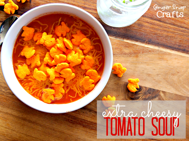 Extra Cheesy Tomato Soup #makeitgopuff #cbias #gingersnapcrafts
