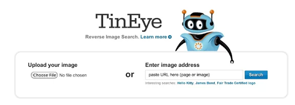 TinEye : recherche quels sites utilisent telle ou telle image