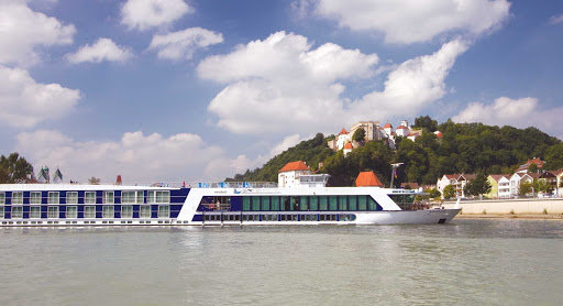 AmaCello-Exterior-Passau - Sail into the enchanting town of Passau in Lower Bavaria, Germany, and discover its hidden treasures as you sail on the Danube aboard AmaCello.