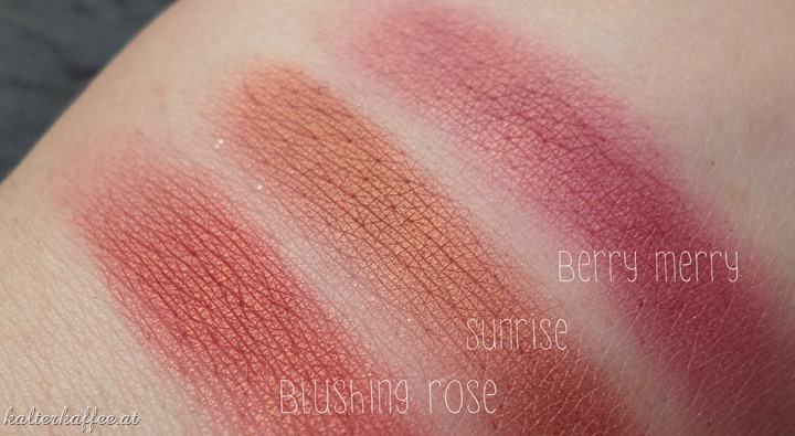 elf studio blush blushing rose swatches comparison