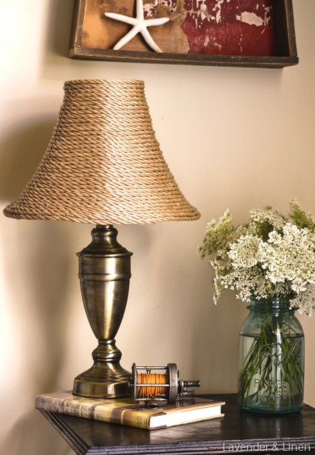Lavender & Linen: DIY Simple Lampshade Makeover