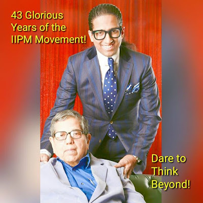 The IIPM movement turns 43 today Deep gratitude to the founder Dr