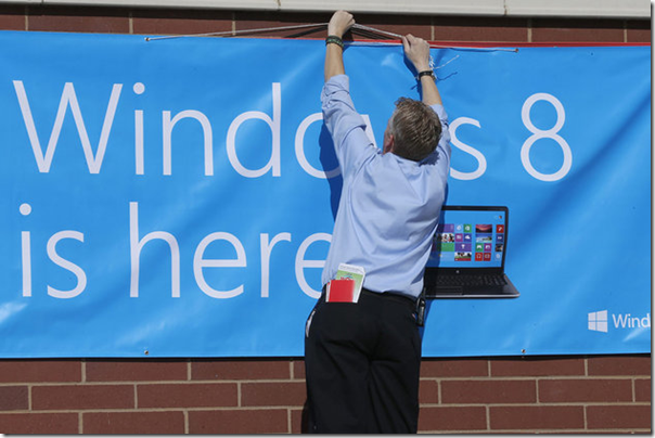 Le lancement de Windows 8