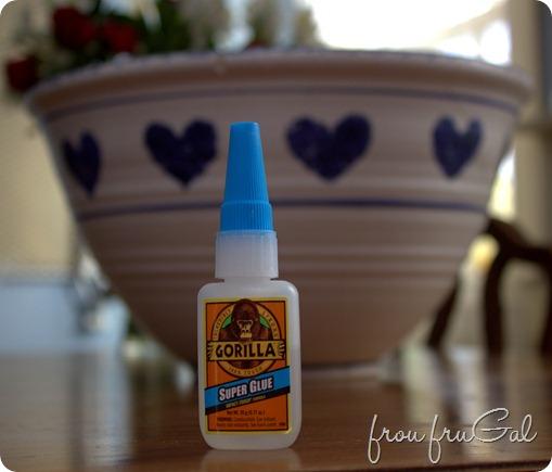 Gorilla Glue with Ceramic Bowl