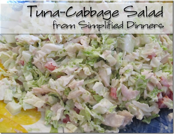 Simplified Dinners Tuna Cabbage Salad