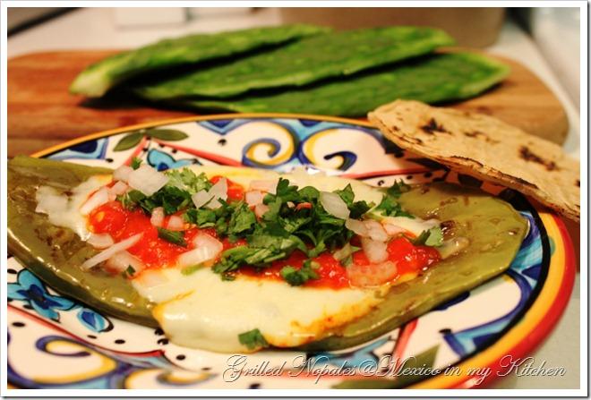 grilled cactus - Nopales asados 4