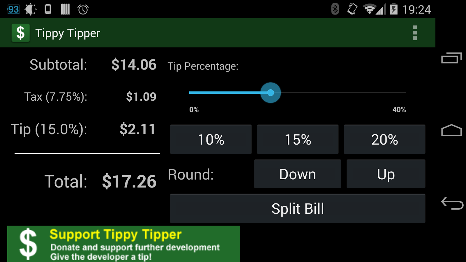 Tippy Tipper (Tip Calculator)- screenshot