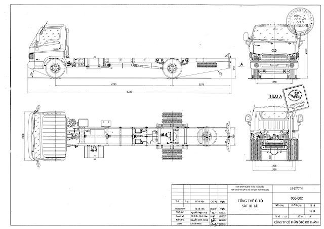 Bản vẽ thiết kế xe Hyundai HD120sl 8 tấn