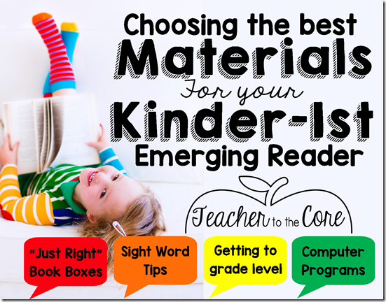 """How to choose """"Just Right"""" books for kindergarten through"""