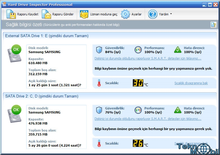 Hard Drive Inspector Pro v4.15 Build 168 Türkçe Full