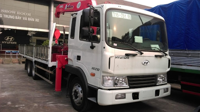 Xe tải cẩu 5 tấn Hyundai HD210