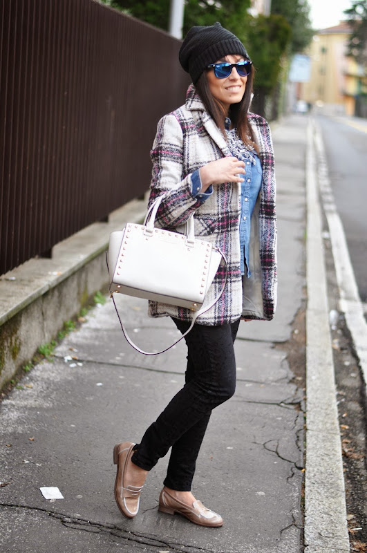 outfit, tartan, mood tartan, ottaviani necklace, italian fashion bloggers, fashion bloggers, street style, zagufashion, valentina coco, i migliori fashion blogger italiani