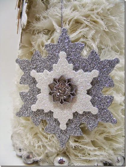 LeAnne Pugliese WeeInklings Paper Players 225 Glimmer Paper Snowflake Ornaments Stampin Up 3