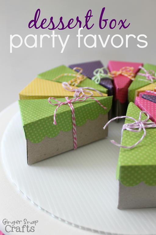 Dessert Box Party Favors with #LifestyleStudios #WeRMemoryKeepers #spon at GingerSnapCrafts.com