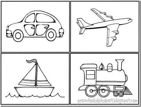 preschool alphabet vehicles. Black Bedroom Furniture Sets. Home Design Ideas
