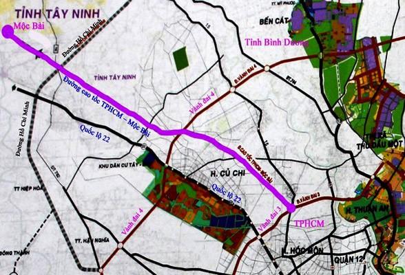 Sẽ sớm triển khai tuyến cao tốc Tp Hồ Chí Minh Mộc Bài 2