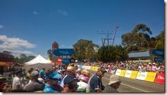 Looking towards the finish line, Mt Barker